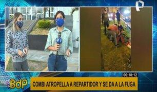 Chorrillos: joven repartidor está grave y pierde todos los dedos del pie tras violento atropello