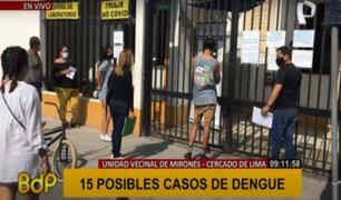 Dengue en Cercado de Lima: reportan posibles casos en unidad vecinal de Mirones
