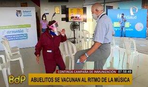 Campaña de inmunización contra la COVID-19: adultos mayores piden no temer a la vacuna