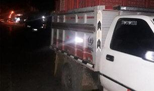 Huancayo: terrible muerte encontró sujeto al caer de la tolva de una camioneta en movimiento
