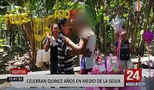 Iquitos: familia celebra cumpleaños en medio de la selva para evitar intervención policial