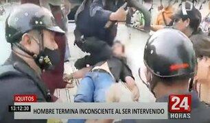 Iquitos: denuncian presunto abuso de autoridad de policía que dejó inconsciente a intervenido