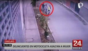 Chiclayo: arrebatan bolso a mujer luego de amenazarla con un arma de fuego