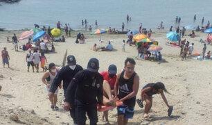 Piura: al menos 15 heridos por presunto ataque de rayas en playa La Peñitas