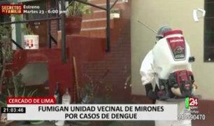 Fumigan viviendas de la Unidad Vecinal Mirones por casos de Dengue