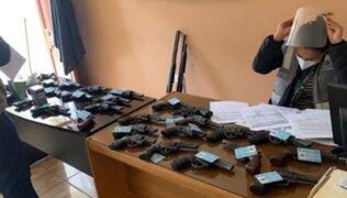 Sucamec incautó 156 armas de fuego en diversas regiones del país