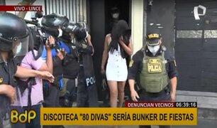 """Discoteca """"80 Divas"""": Policía retira a más de 20 personas atrincheradas en local"""