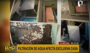 La Molina: casa exclusiva se cae a pedazos por filtración de agua de piscina del vecino