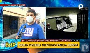 Pueblo Libre: robacasas ingresaron sin zapatos a vivienda y se llevaron de todo