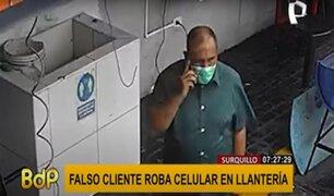 Surquillo: delincuente simula ser un cliente para robar en llantería