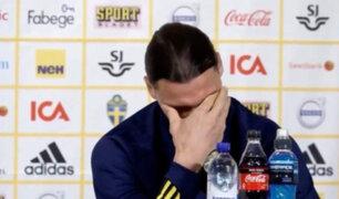 Zlatan Ibrahimovic lloró de emoción en su retorno a la Selección de Suecia