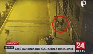Huancayo: asaltan a transeúnte mientras las cámaras de seguridad del municipio los grababa