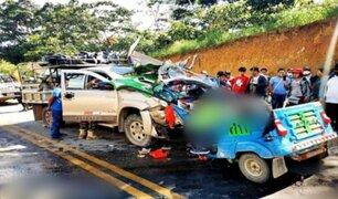 Tres muertos y dos heridos dejó violento choque en Satipo