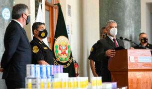 PNP recibe equipos de protección contra el covid-19 de la Embajada de EEUU