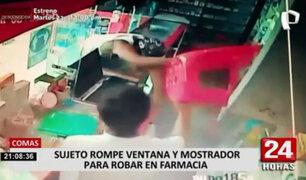 Comas: ladrón rompió mostrador de farmacia para robarse las ganancias del día