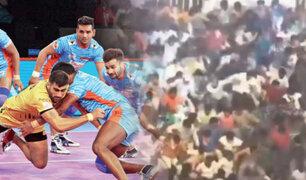 India: se derrumba una grada con 2.000 personas en un torneo de Kabaddi