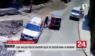 Capturan a falso reciclador que se dedicaba a robar en SJL