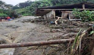 Distritos de seis regiones son declarados en Estado de Emergencia por fuertes lluvias