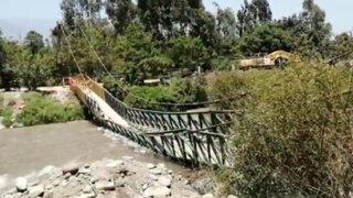 Cieneguilla: puente peatonal se desploma y deja a vecinos incomunicados