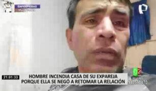 Huarochirí: sujeto se graba quemando la casa de su expareja