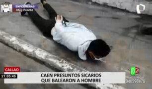 Callao: sujetos que dispararon contra hombre registran antecedentes