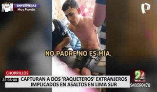 Capturan a extranjeros que amedrentaban con arma a sus víctimas en Lima Sur