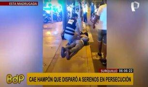 Surquillo: cae sujeto que disparó a serenos durante persecución