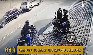 Chorrillos: asaltan a repartidor de celulares a plena luz del día