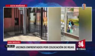Vecinos de San Miguel enfrentados por colocación de rejas