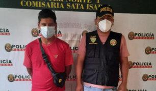 Comas: delincuente pide perdón de rodillas a policías para que no lo manden a prisión