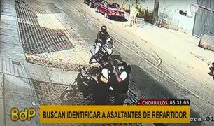 Chorrillos: Policía busca identificar a sujetos en moto lineal que asaltaron a repartidor
