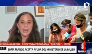 MIMP brinda ayuda a Sofía Franco tras caso de agresión