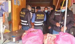 Decomisan más de 130 kilos de carne no apta para consumo humano en Huancavelica