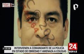 Comandante PNP terminó detenido tras agredir a agentes de seguridad