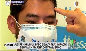 Joven que perdió la visión de un ojo durante marcha de noviembre recibió el alta