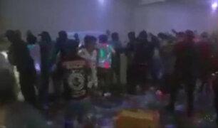 Huaycán: asistentes a fiesta clandestina atacan con piedras y palos a la Policía para evitar intervención