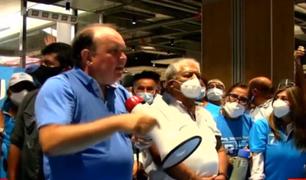 Elecciones 2021: Rafael López Aliaga visitó el emporio comercial de Gamarra