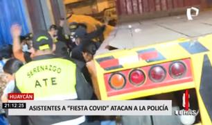 Huaycán: asistentes de fiesta Covid golpearon a policías y serenos en plena intervención