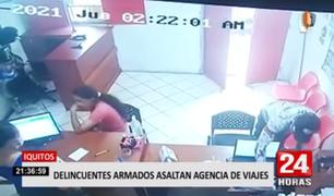 Iquitos: delincuentes armados asaltan agencia de viajes