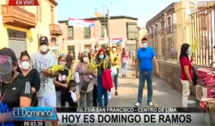 Cercado de Lima: largas colas en Iglesia San Francisco por Domingo de Ramos