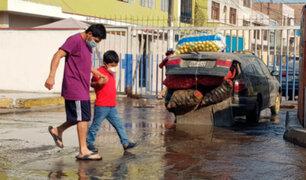 Rímac: aniego por rotura de tubería afecta a decenas de familias