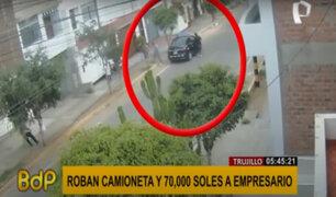 Trujillo: roban camioneta y 70 mil soles a empresario a plena luz del día