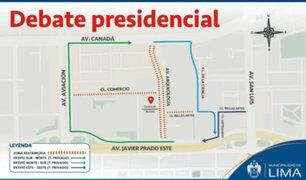 Elecciones 2021: los desvíos vehiculares por el debate presidencial del 29 al 31 de marzo