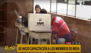 Elecciones 2021: ONPE inició primera jornada de capacitación a miembros de mesa