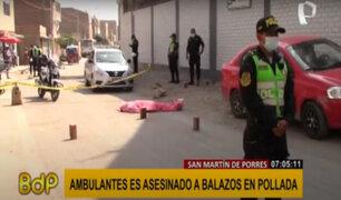 SMP: vendedor ambulante es asesinado a balazos tras pelea en pollada