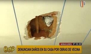 Miraflores: podrían sancionar con S/.8,800 a vecina que causó daños con obra de remodelación
