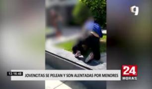 Jovencitas se pelean y son alentadas por menores en San Luis
