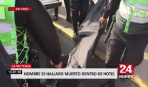 Hombre es hallado muerto dentro de hotel en La Victoria