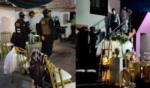 Arequipa: recién casados y sus invitados terminan en comisaría por no acatar restricciones por Covid-19