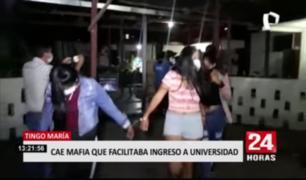 Tingo María: cae mafia que facilitaba ingreso a universidad